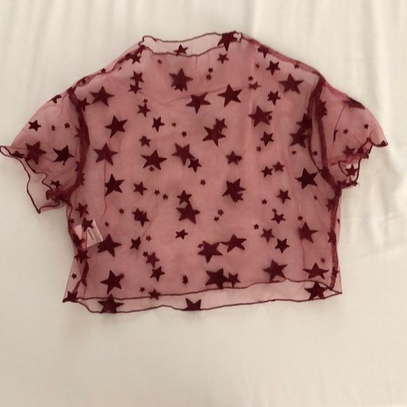 LF Tops - See through star shirt
